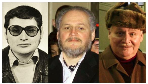 Carlos in den Siebzigern, 2001 und 2013